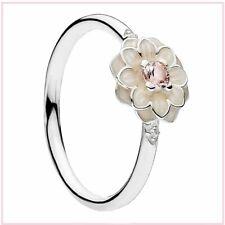 Pandora Blooming Dahlia Cream Enamel Ring Sterling Silver 190985NBP