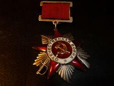 RARE! Russia USSR Order PATRIOTIC WAR 12692 T1V3 Suspension Award Medal Russian