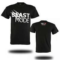 Beast Mode Mens Sports Running T Shirt Gym Short Sleeve Breathable Mesh Back