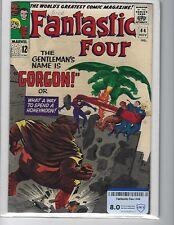 Fantastic Four #44, CBCS (not CGC) Raw Grade 8.0 (VF), Intro. Gorgon