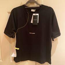 Genuine Saint Laurent Womens Logo Tshirt T-shirt New Ysl Black Size L Large Yves