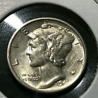 1941-S MERCURY DIME BRILLIANT UNCIRCULATED COIN