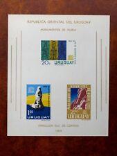 TIMBRES D'URUGUAY : 1964 YVERT BLOC FEUILLET N° 11(*) EMIS SANS GOMME - TBE