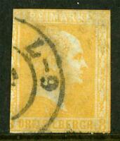 Germany 1858 Prussia 3sgr Deep Orange SG #21 VFU J872 ⭐⭐⭐⭐⭐