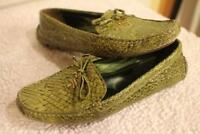 PRADA Snakeskin Driving Loafers SIZE 38 US 8  (TAC1000