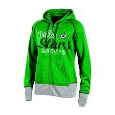 NHL Dallas Stars Womens Full Zip Hooded Fleece Jacket Green Heather Medium e5a420597