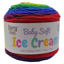 Baby Ice Cream Yarn 15g 515m 100 Acrylic 3 Ply Like Caron Cake Rainbow Falls
