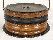 Antique - Horse Carriage Foot Warmer, Banded / Ring Turned, Treen, equestrian