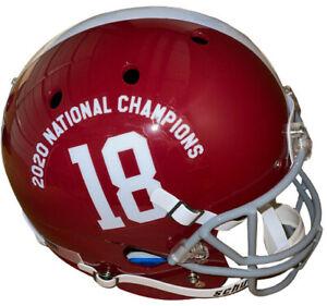 Alabama Crimson Tide Schutt #18 FS Rep Helmet 2020 National Champions Logo - NEW