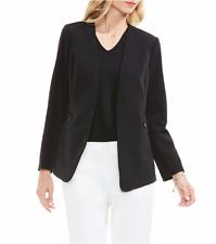 NWT VINCE CAMUTO BLACK OPEN FRONT CAREER JACKET BLAZER SIZE 12 $139