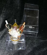 New listing Wine Bottle Stopper With Decorative 3 Bottles Of Wine In Ice Bucket Chilling