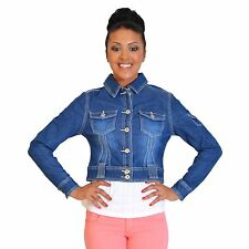 Denim No Pattern Unbranded Cropped Coats & Jackets for Women