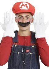 Supermario Mario Glove Hat And Mustache Set Halloween Adult Costume Cosplay NEW
