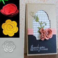 1pc Rose Flower Metal Cutting Dies Stencil Scrapbooking Album Card Embossing
