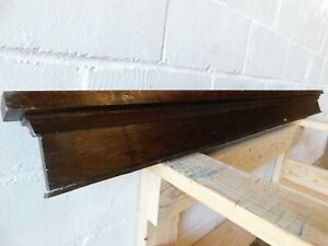 1910's Antique DOOR PEDIMENT Crown Molding Lintel Header CRAFTSMAN Oak ORNATE