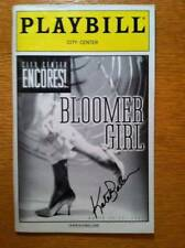 Kate Baldwin (only) Signed Playbill Bloomer Girl Encores  Kate Jennings Grant