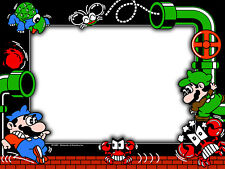 Mario Bros Arcade Monitor Bezel Sticker Decal
