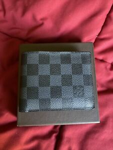 Louis-Vuitton Mens Damier Graphite Wallet Authentic
