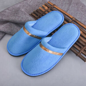 Unisex Slippers Thick Coral Fleece Slippers Shoes Soft Non-slip Household Hotel