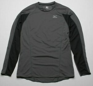 Mizuno Men Renegade Long Sleeve Tee (M) 420968 9290 Charcoal Black