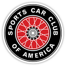 "SCCA Sports Car Club of America sticker decal 4"" x 4"""