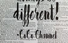 Coco Chanel Citazione-sempre essere diversi-pagina di dizionario ART PRINT DA COLLEZIONE