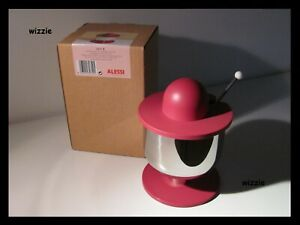 ALESSI : Large Sugar Bowl With Spoon ES11 R / Ettore Sottsass ( RARE )
