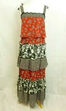 NEXT Tiered Ruffle Maxi Dress Red/black Size UK 18 Dh087 GG 14