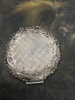 ANTIQUE STERLING SILVER POCKET COMPACT CASE CZECHOSLOVAKIA STUNNING 107Gr.
