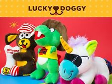 Premium Dog Flush Toy Chew Play Squeaker Squeaky Cute Plush Sound Toys For Dog