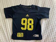 Michigan Wolverines Football Jersey Adidas #98 Tom Harmon Size 4T.