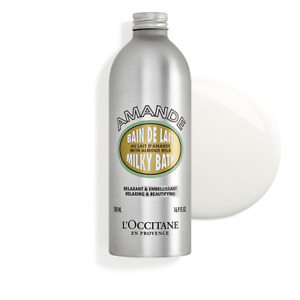 L'Occitane Almond Milky Bath 500ml Beautifying Relaxing Comfort Soften *FreePost