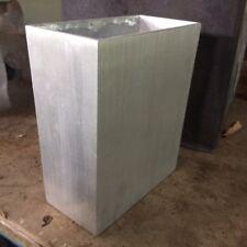 18cm CLEARANCE Small Aluminium Tall Trough Planter/Metal Garden/Home Pot Silver
