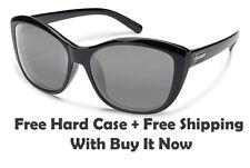 Suncloud Skyline Sunglasses - Gloss Black / Grey Polarized + Free Hard Case/Ship
