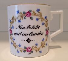 Hochst J.W. von Goethe Hand-Painted Porcelain Cup #2 Made in Germany New