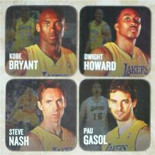 LAKERS ~ 2012-13 COASTER SET ~ KOBE BRYANT, PAU GASOL, STEVE NASH, DWIGHT HOWARD