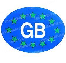 1 x Blue GB Oval Euro Stickers Decals For Car Trailer Van Caravan