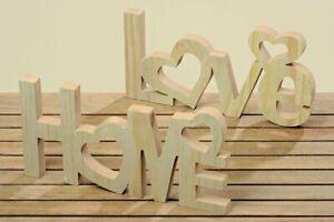 POSTEN 4 x Aufsteller Home oder Love MDF Länge 40 cm UVP je 14,99 € /2