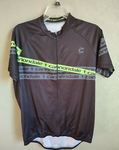 Men's Cannondale Cycling Jersey Black / Green Size Medium