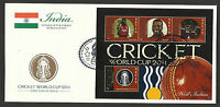 NEVIS 2011 ICC CRICKET WORLD CUP WEST INDIES TEAM CHRIS GAYLE 4v Sheet FDC