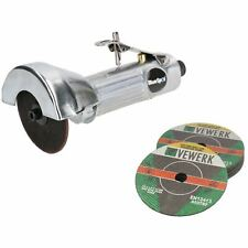"""3"""" / 75mm Air Cut Off Cutting Tool Pneumatic Grinding Saw Cutter With 11 Discs"""