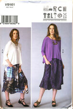 Vogue Sewing Pattern 9161 Misses Sz 16-26 Marcy Tilton Top & Skirt in Plus Sizes