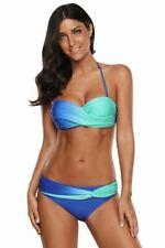 Women's Two Piece Swimsuit Celebrity Blue Green Tie Dye Bikini Swimwear