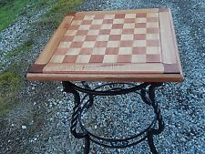 "Chessboard Table, Handmade by Brandon, Large 2.5"" Squares. Exceptional Woods"