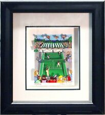 S/O Tennis Love Charles Fazzino 3D Pop Art Serigraph Print FRAMED Sports Game