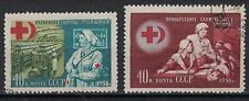 RUSSIA,USSR:1956 SC#1823-24 Used Red Cross and Red Crescent