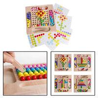 Montessori Educational Wooden Clip Bead Preschool Learning Toys Boys Girls