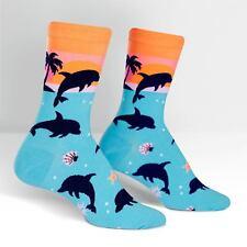 Sock It To Me Women's Crew Socks - Dancing Dolphins