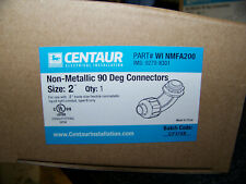 """Centaur Non-Metallic 90 Degrees 2"""" Connector Liquid Tight Winmfa200 New"""