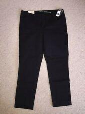 Gap Black Ladies Capri Khaki Skinny Stretch Trousers Size 16 BNWT